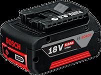 Bosch 18V 5,0Ah Lithium Batteri , 1600A002U5