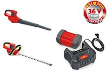 WOLF-Garten Batteripaket med häcksax och lövblås, 41AJLHTC650T