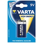 Varta High Energy 9V Batteri, 4922