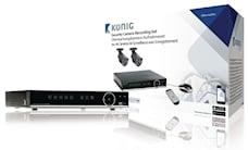 König Inspelningsset för övervakningskamera med inbyggd 500 GB hårddisk, SAS-SETDVR35