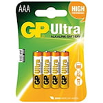 GP Ultra AAA Batteri, 9191010