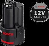 Bosch 12V 1,5Ah Lithium Batteri , 1600Z0002W