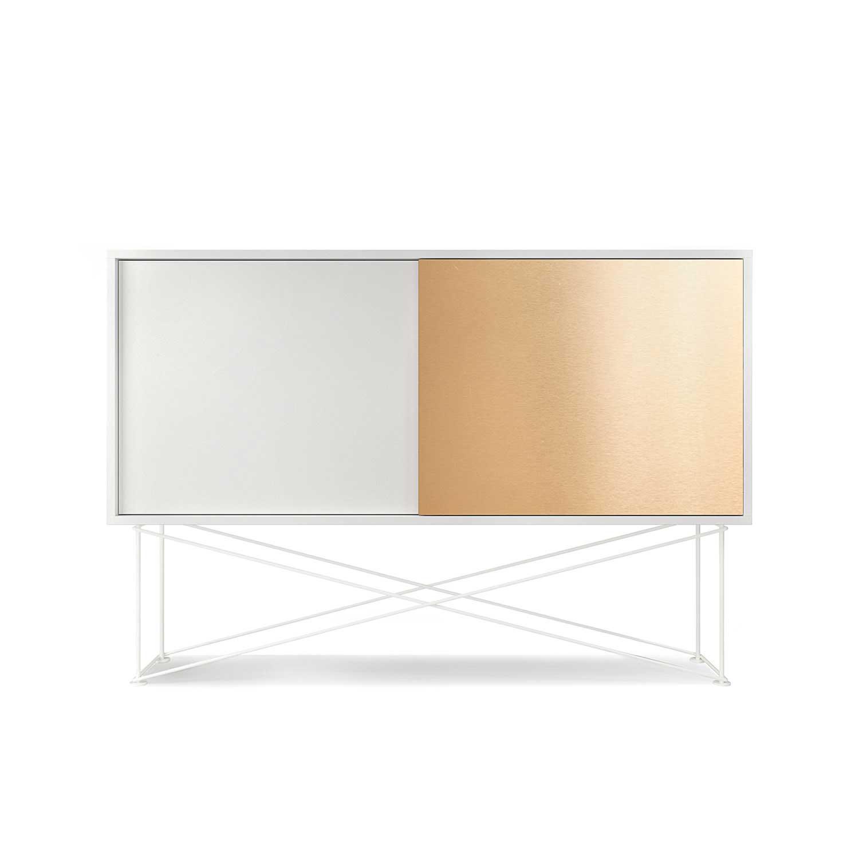 Decotique-Vogue Sideboard 136H, Hvid/1W1B/Hvid
