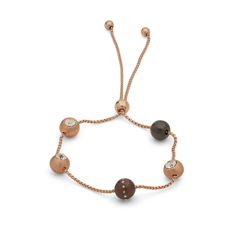 Darla Armband, Roséguld/Kristall
