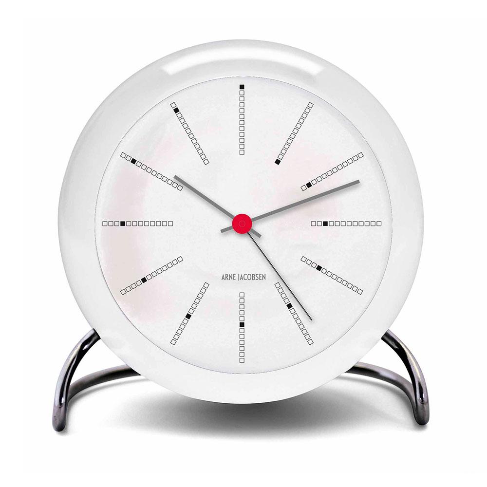 Bilde av Arne Jacobsen-AJ Bordklokke Med Alarm, Hvit, 11cm