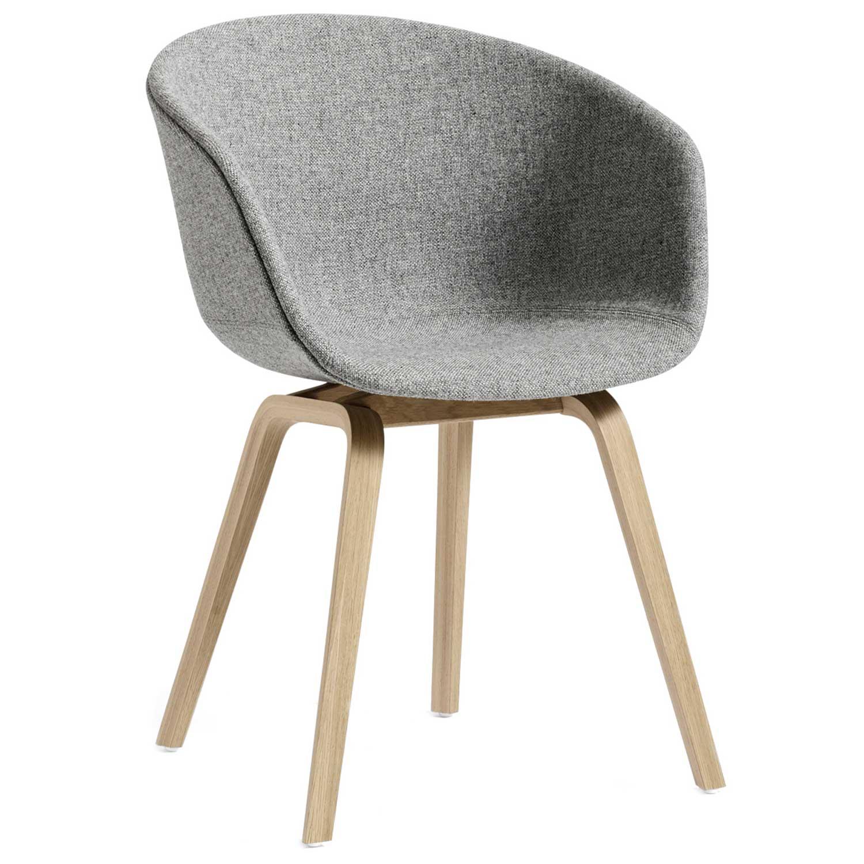 Hay-About A Chair 23, Matt Lacquered Oak/Light Grey
