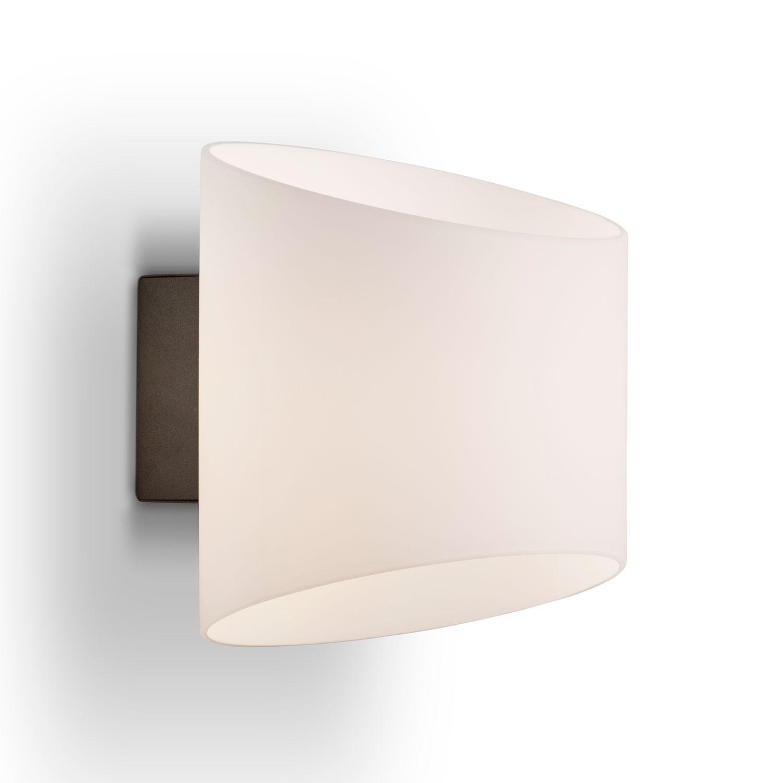 Herstal-Evoke Wall Lamp E14, Anthracite / Opalvit