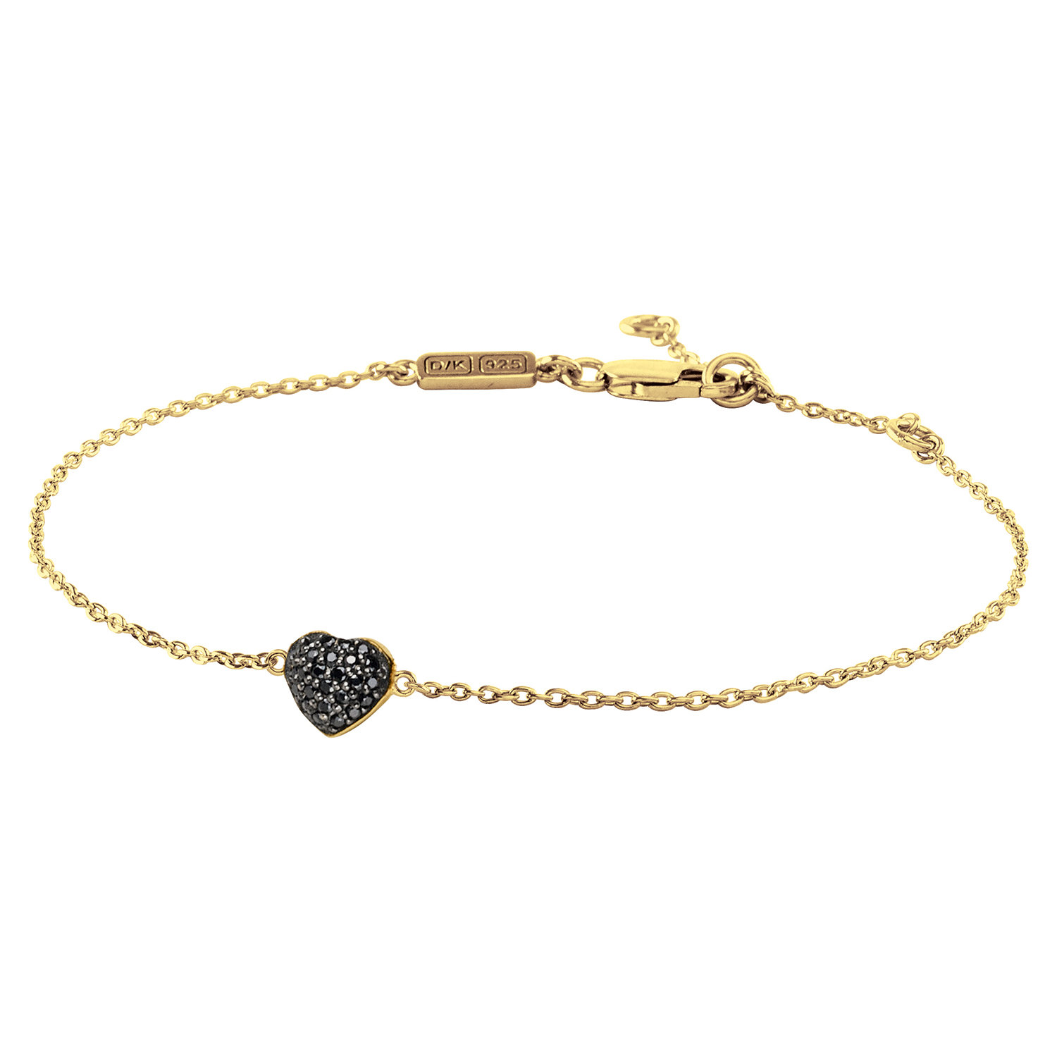 Minnie Armband, Shiny Gold/Black