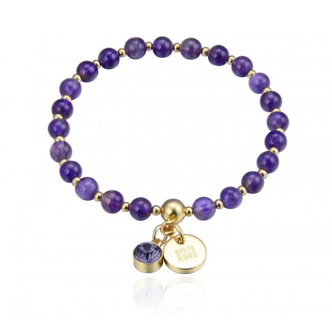 Beverly Armband, Lila/Guld