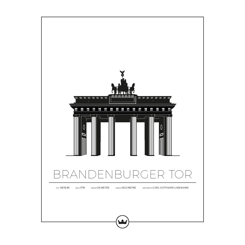 Brandenburger Tor Berlin Poster 40x50cm