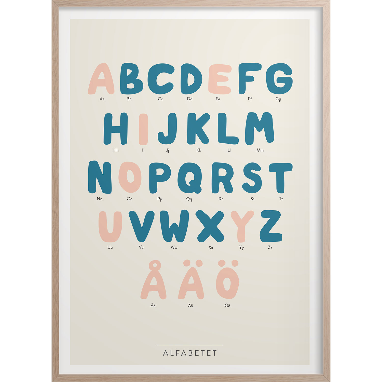 Alfabetet Poster, 50x70 cm