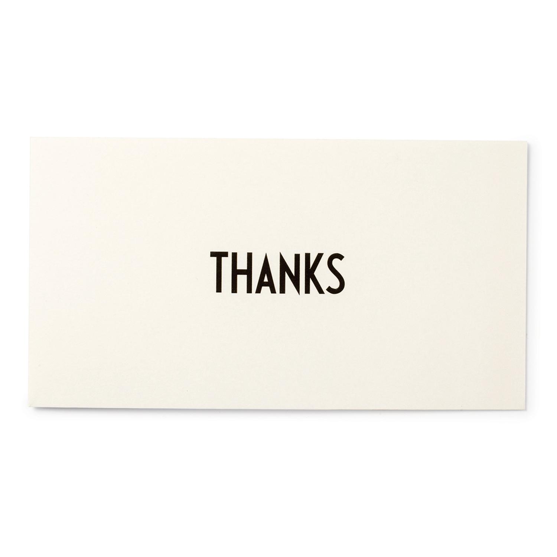 Design Letters Gratulationskort Thanks