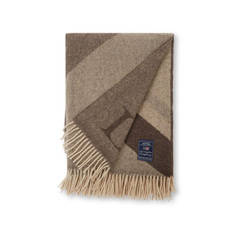 Graphic Recycled Wool Pläd, Brun 130X170 cm