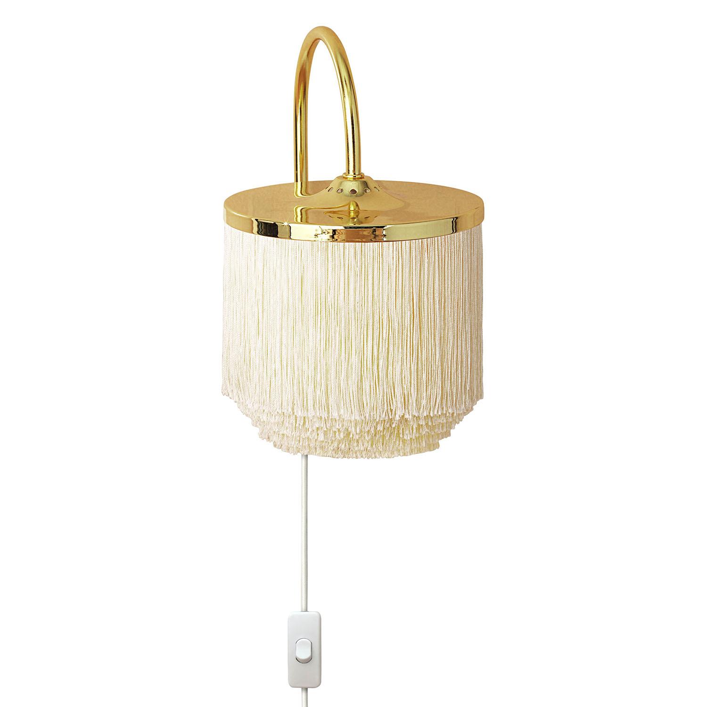 Fringe Vägglampa, Cream White