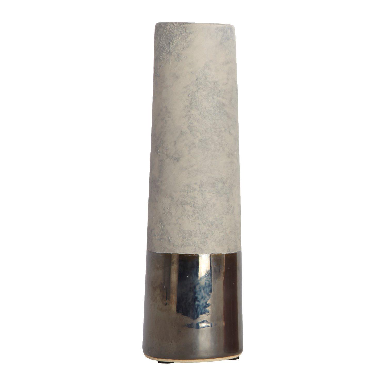 Bilde av House Doctor-Tube Vase, Sement/Svart Perlemor