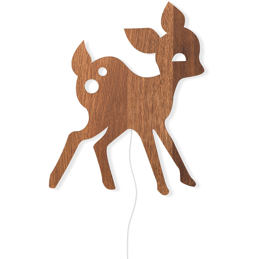 My Deer Vägglampa, Rökt Ek