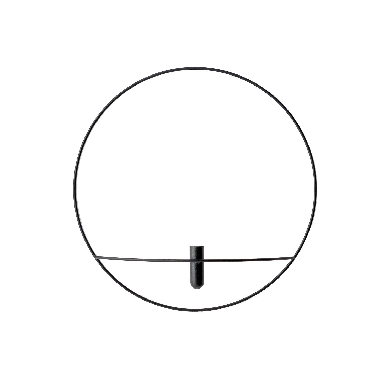 Pov Circle Vägghängd Vas L, Svart