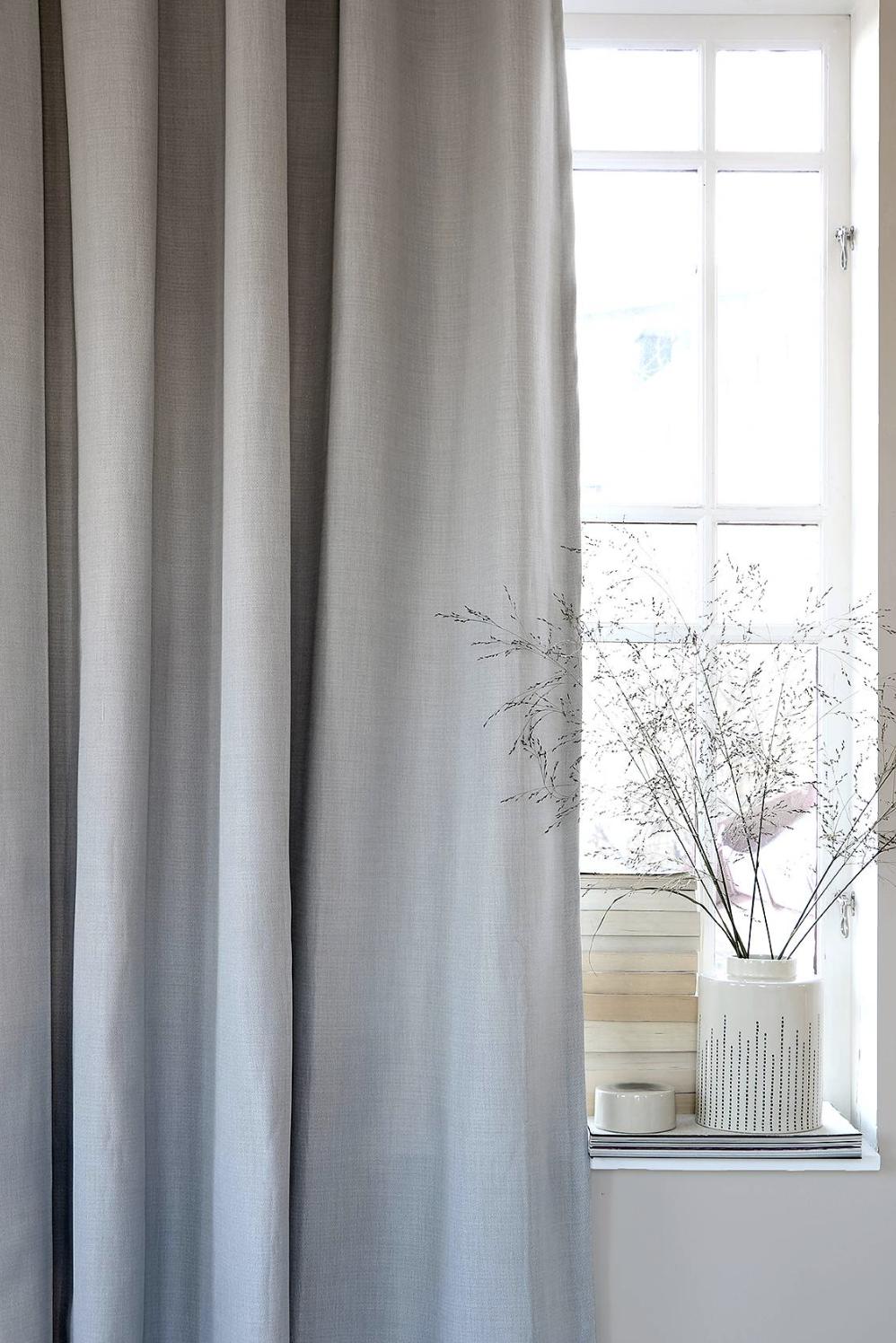 Lyx Hotellmörkläggning Gardin 290x250 cm, Grå