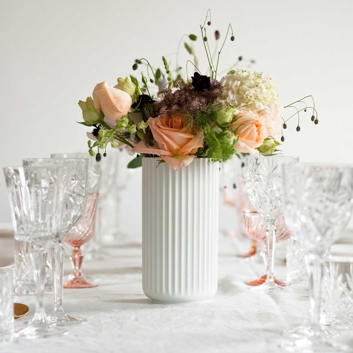 15 cm Lyngby porcelain vase porcelaine noir