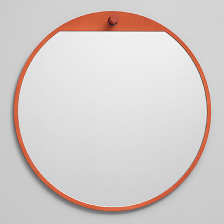 Bilde av Essem Design-Tillbakablick Speil Ø50cm, Rød