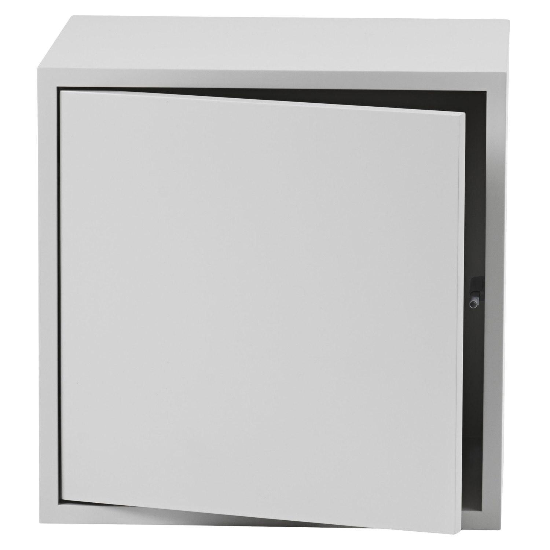 Stacked hylla m dörr medium, light grey