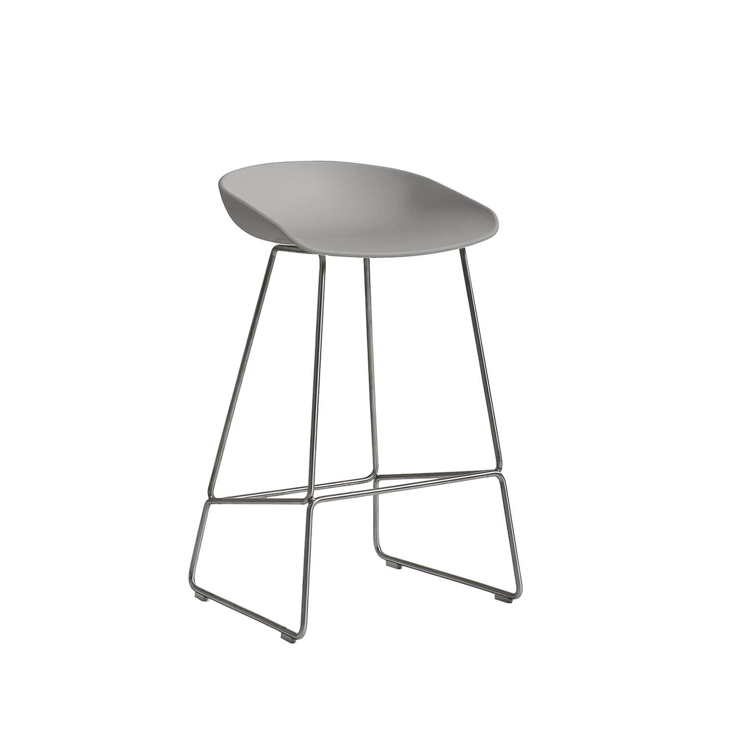 Hay-About A Stool 38 Barstol H65, Varm Rød/Rustfrit