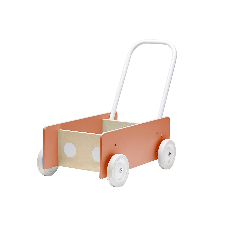 Kids Concept-Learn To Walk Wagon, Blue Grey