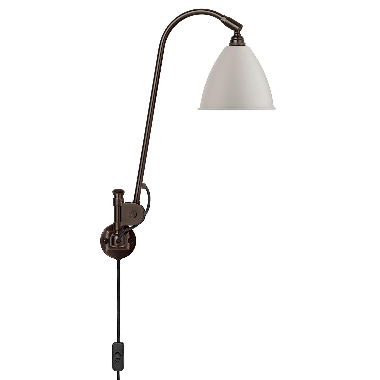 Bilde av Gubi-BL6 Vegglampe, Black Brass/Black Brass