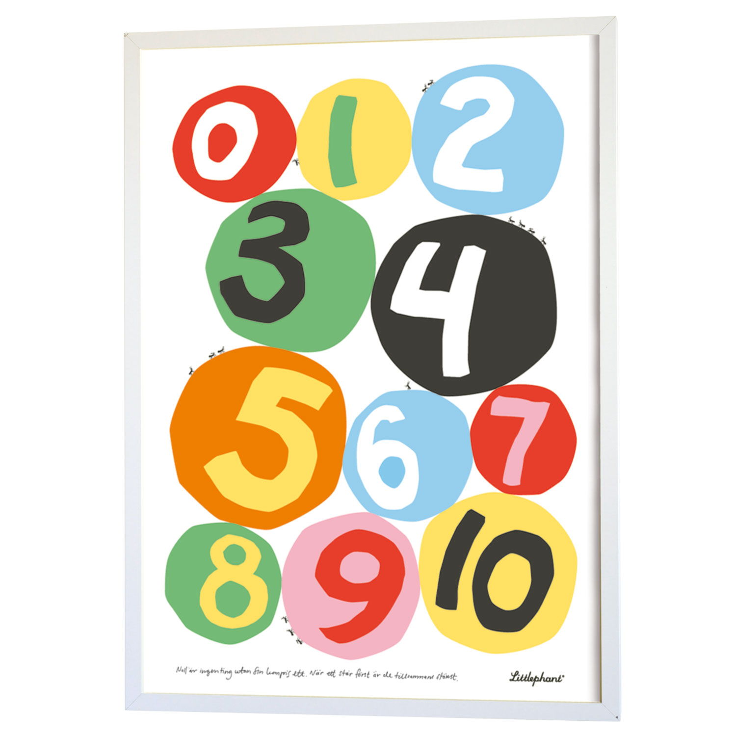 Numbers Graphic Print 50x70cm, Numbers