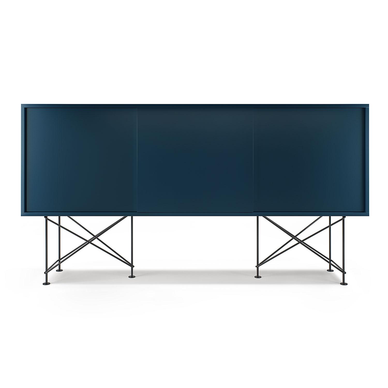 Vogue Sideboard 180H, Mörkblå/3DB/Svart