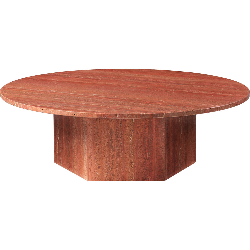 Epic Soffbord Rund Ø110 cm, Red Travertine