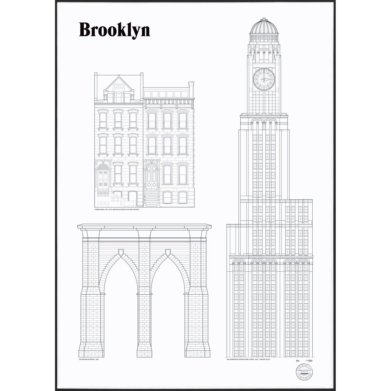 Bilde av Studio Esinam-Brooklyn Landmarks Poster