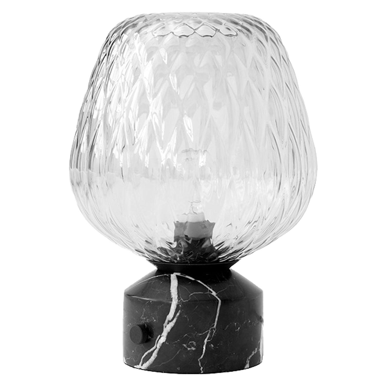 Bilde av &Tradition-Blown table lamp SW6, black marble & Silver