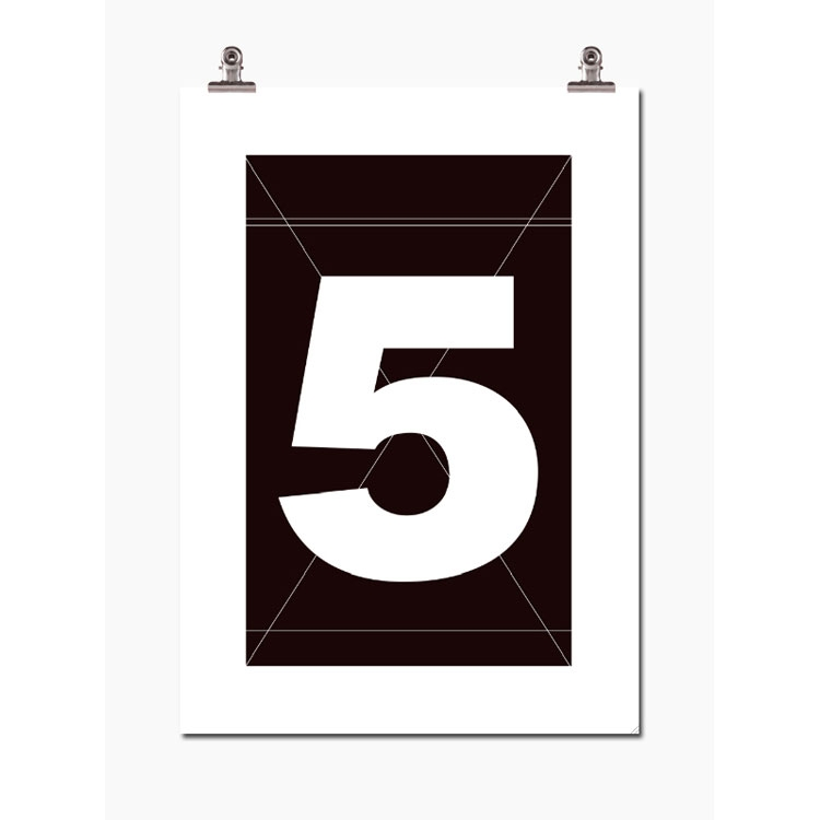 Bilde av Wallstuff-Number Five Poster