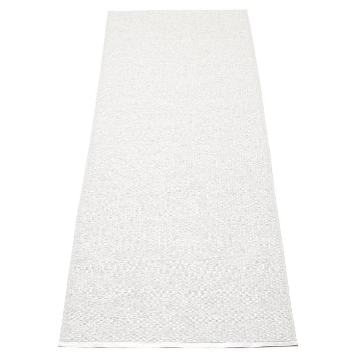 Svea Matta White Metallic/White, 70x400 cm