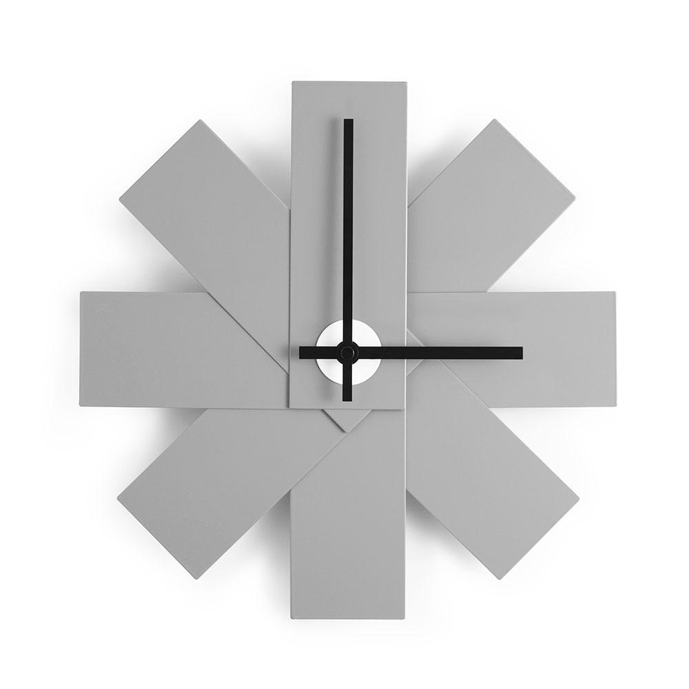 Bilde av Normann Copenhagen-Watch Me Veggklokke Grå 28,5 cm, Aluminium