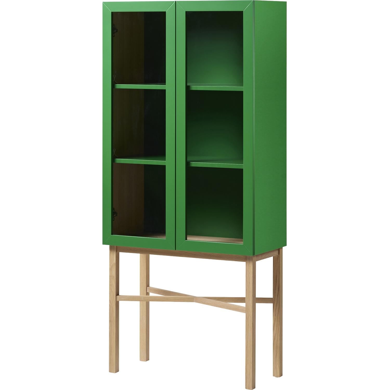 Display Skåp, Grön/Grön/Ekben