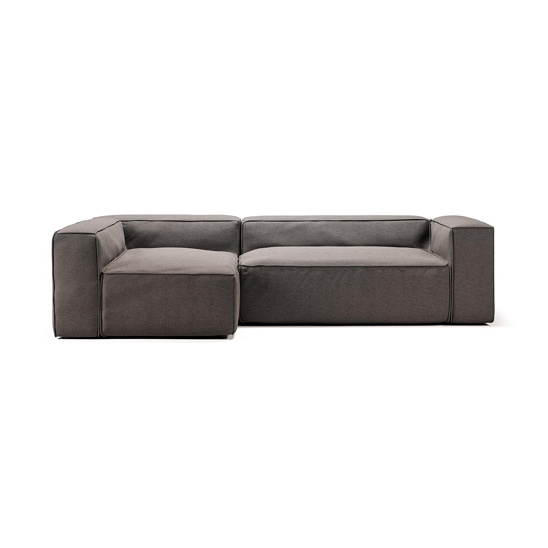 Grand 3-Seat Divan Sofa Left, Mine Hunter 156, Decotique