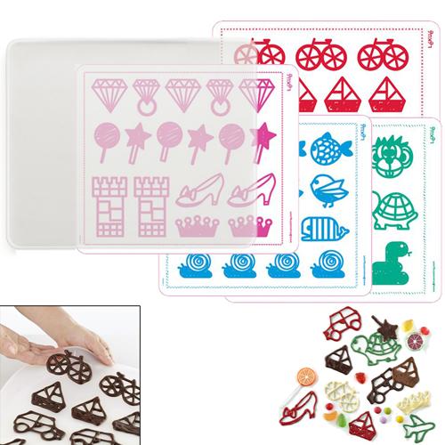 Lékué-Decomat Dekorationsstencil Kids Basic, 4-pack