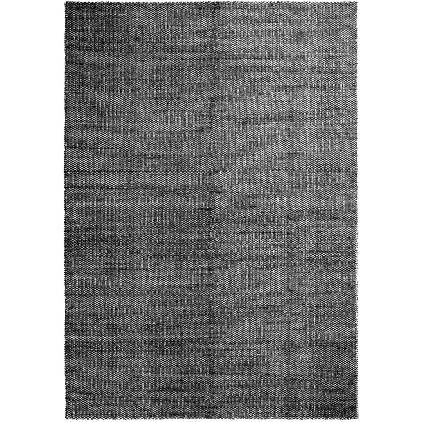 Moiré Kelim Matta 170x240 cm, Svart