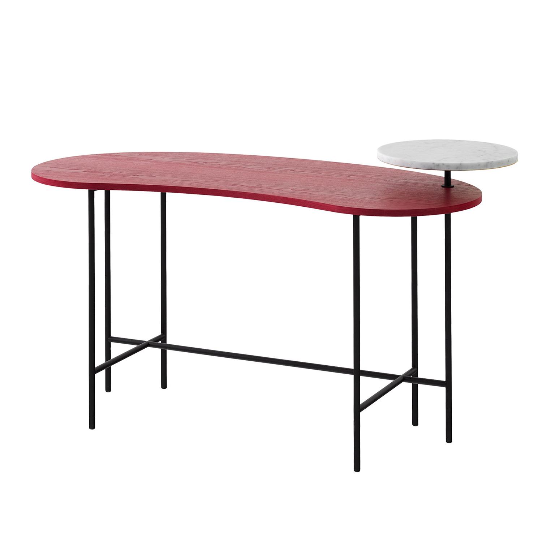 Bilde av &Tradition-Palette Desk Jh9, Rød Ask/Bianco Carrara