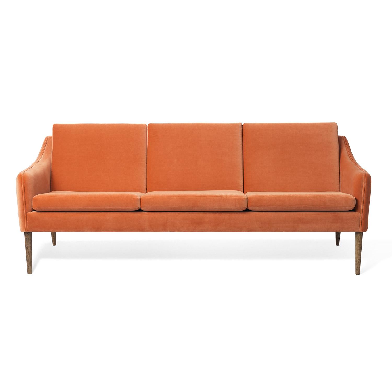 Warm Nordic-Mr. Olsen 3 Pers. Sofa, Rusty Rose Velvet