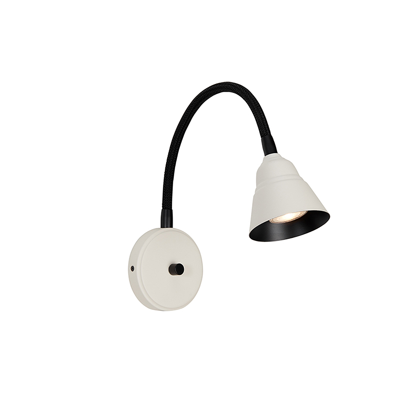 Herstal-Relief Wall Lamp, Pearl White/Matte Black