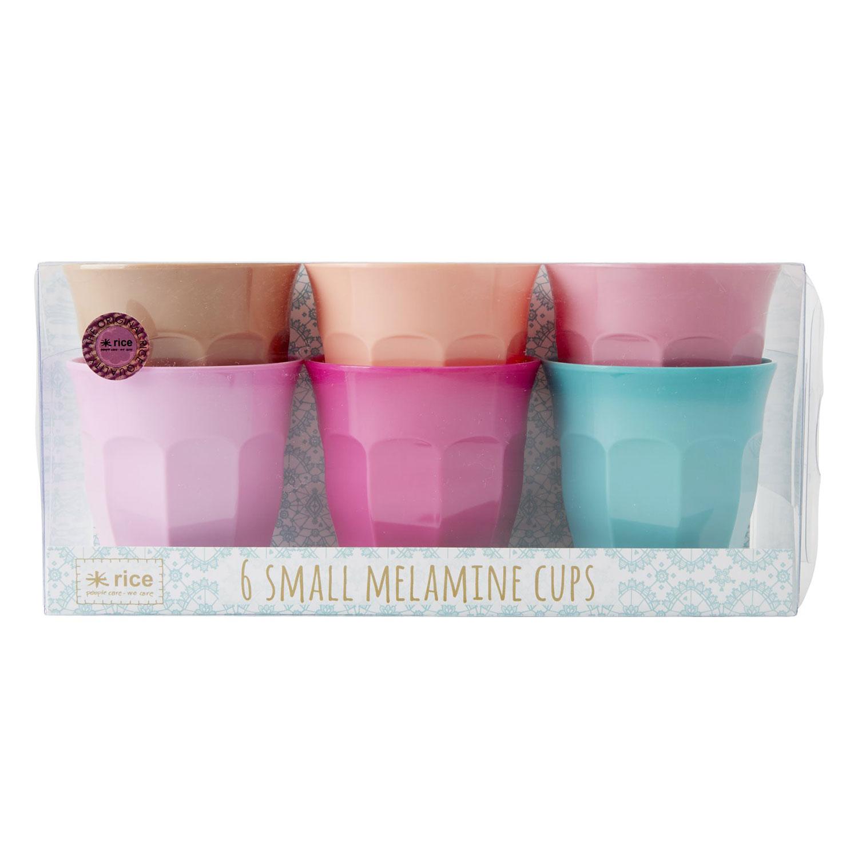 Melaminmuggar Small 6-pack, LBC Colors