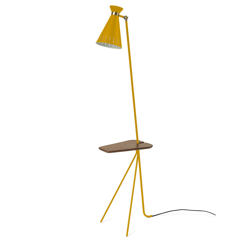 Cone Golvlampa Med Bord, Honey Yellow