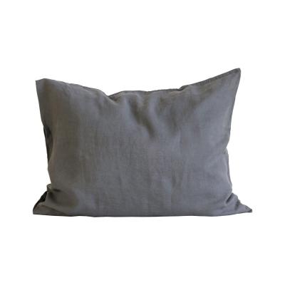 Tell Me More-Washed Linen Hovedpudebetræk 50X60, Dark Grey 2-Pak
