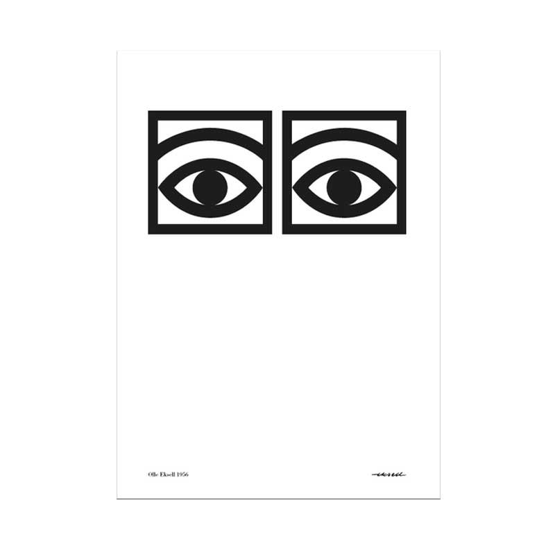 Ögon Cacao Poster 50x70 cm, Black/White