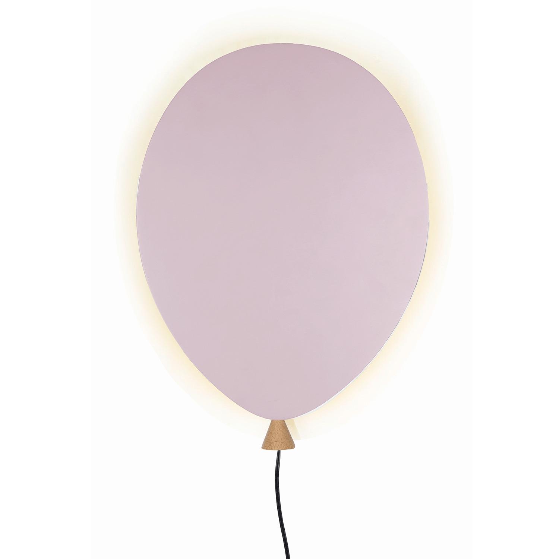Balloon Vägglampa LED, Rosa