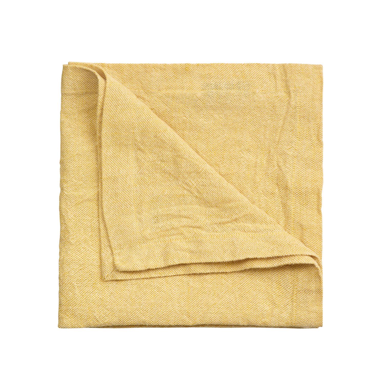 Hedvig Servetti 45x45cm, Mustard Yellow, Linum