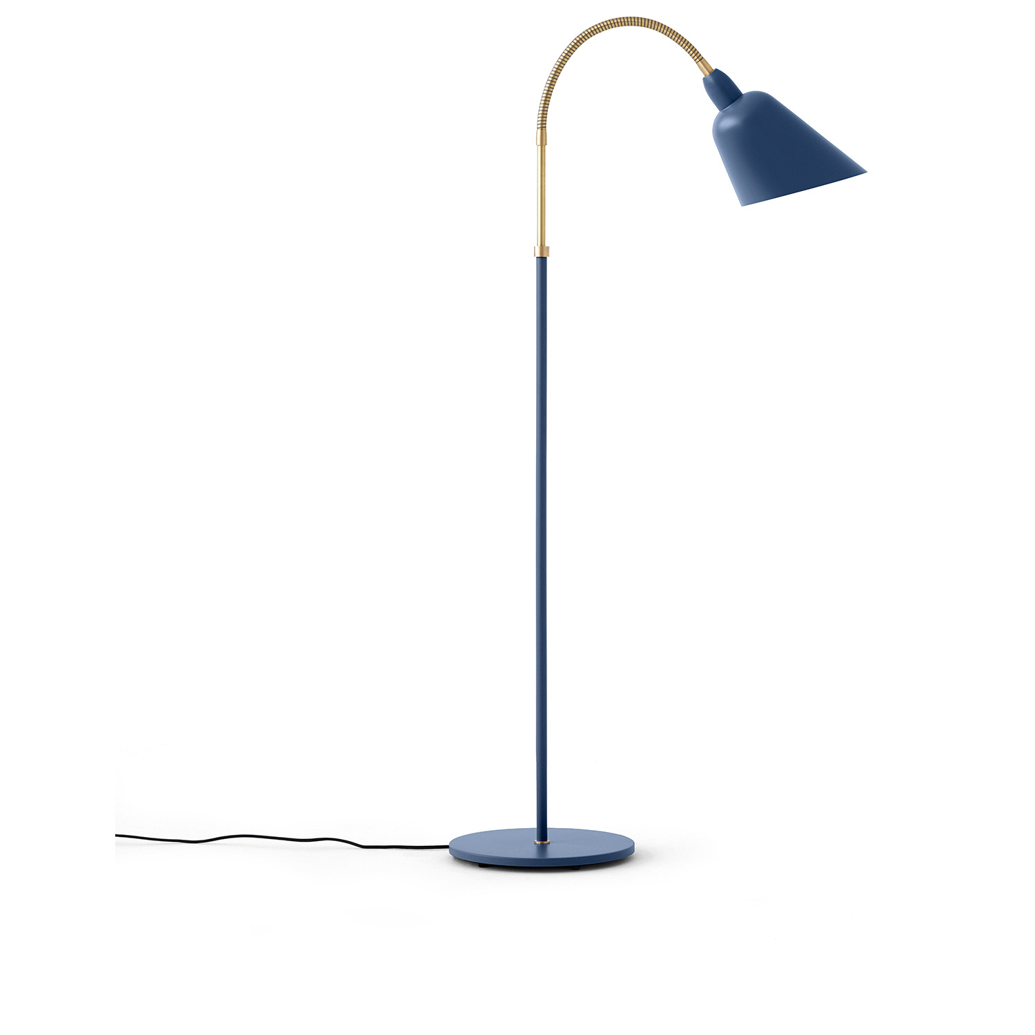 Bilde av &Tradition-Bellevue Gulvlampe AJ7, Thunder Blue/Messing